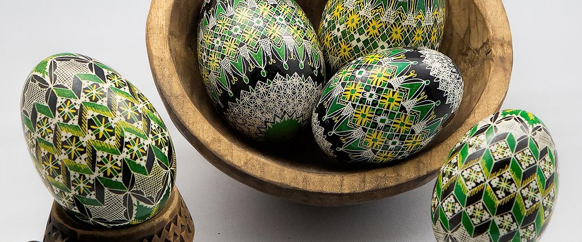 Hand decorated eggs